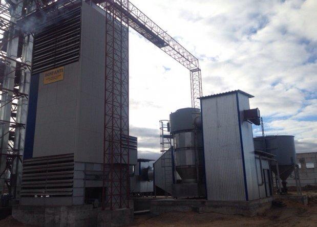Зерносушилка Bonfanti с  альтернативной системой отопления САТ-4,5